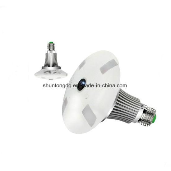 1 3MP 960p HD Fisheye 360 Degree Panoramic Lamp Light Bulb Camera IP Two  Way Audio SD Card Security CCTV Vr Camera