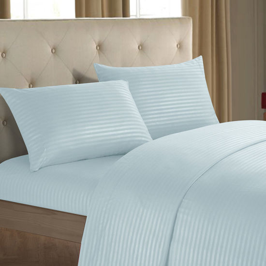 1500 Thread Count Deep Pocket Stripe Microfiber Fabric Bed Sheet Set Get Latest Price