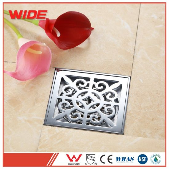Hot Sale Brushed Face Shower Base/Shower Drain Shower Drain Base Floor Drain  Cover Plate Drain Cover