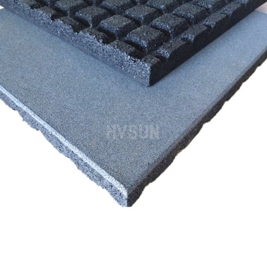 Inter Locked Recycled Rubber Gym Floor