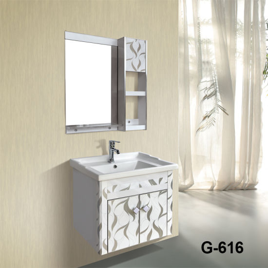 Factory Directly Pvc Bathroom Vanities With Good Quality Wash Basin