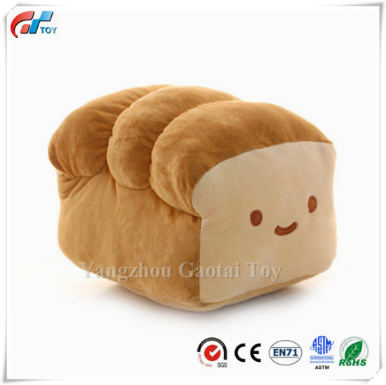 """Bread 6"""", 10"""", 15"""" Plush Pillow Cushion Doll Toy Home Bed Room Interior Decoration"""