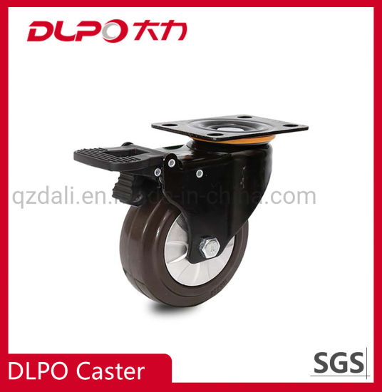 Medium Rubber High Elasticity Universal Trolley Truck Replace Accessories Brake Wheel Caster