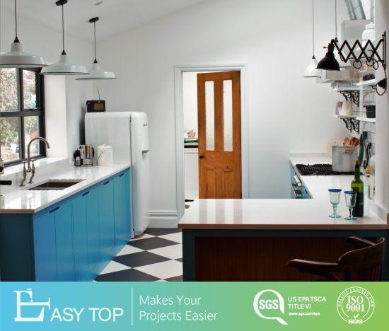 Small Kitchen Cabinet Style Matt Finish Melamine Door Panel Modern Kitchen