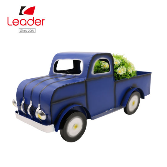 Garden Metal Blue Farm Truck Flower Planter for Home and Outdoor Decoration, High-Quality with Competitive Price pictures & photos