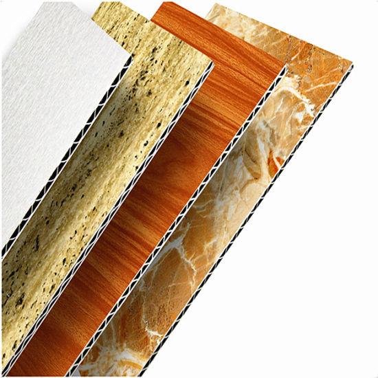 Wood Grain Surface Aluminum Sandwich Panel for Exterior Wall Cladding
