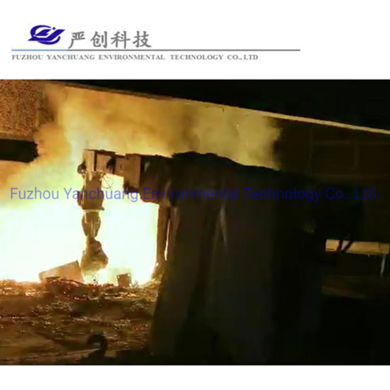 Melting Induction Furnace Pusher Pushing Scrap Steel