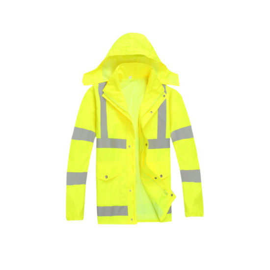 Unisex Water Proof HI Vis PVC Rainwear Suits Adult HI Visibility Work Wear Dress
