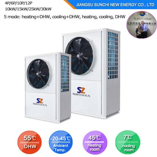 Evi Tech. -25c Winter Floor Heating 100~300sq Meter Villa 12kw/19kw/35kw Auto-Defrost High Cop All Climate Heat Pump Split Systemheat Pump Split R410A