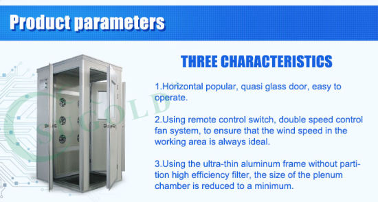 Stainless Steel Cleanroom Air Shower (FLB-1B) pictures & photos