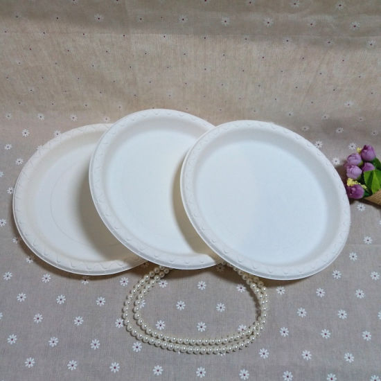 Bio Based Eco Friendly Cornstarch Plastic Plate Disposable Party Plates & China Bio Based Eco Friendly Cornstarch Plastic Plate Disposable ...