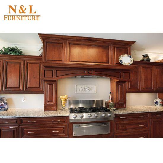 N L American Poplar Solid Wood Modern Kitchen Cabinet