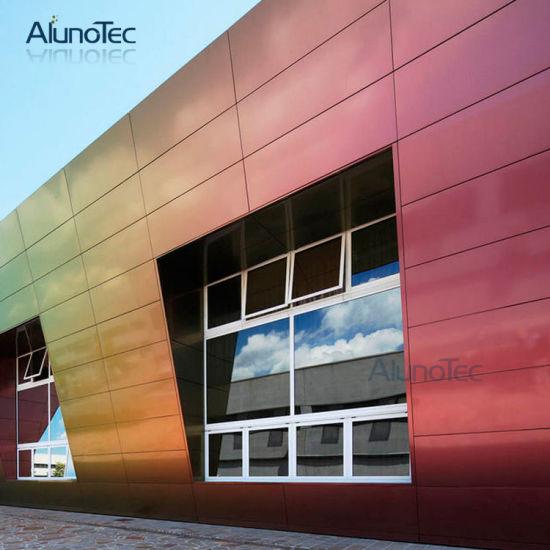 China powder coated aluminium exterior wall cladding sheets facade panel china wall facade for Exterior aluminum wall cladding
