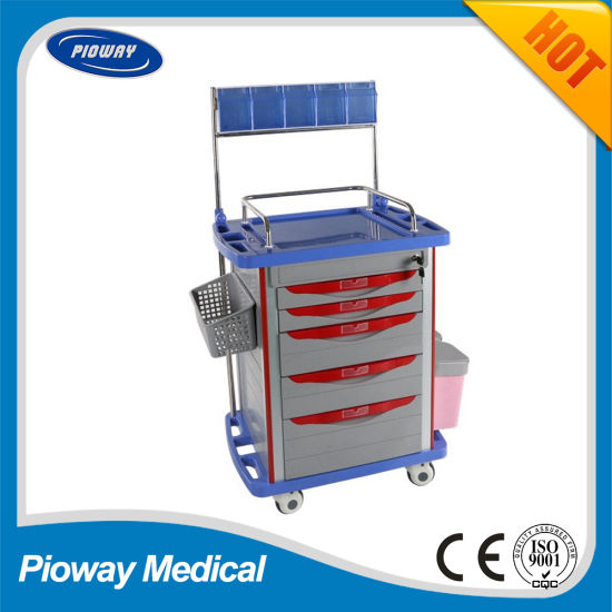 Hospital Medical ABS Mobile Anesthesia Trolley (PW-704)