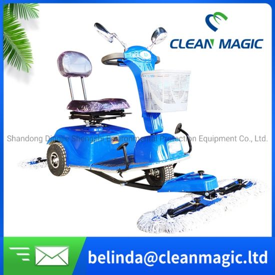 Clean Magic DJ500 Driving Cleaning Tool Electric Floor Scrubber Road Washing Machine with Seat