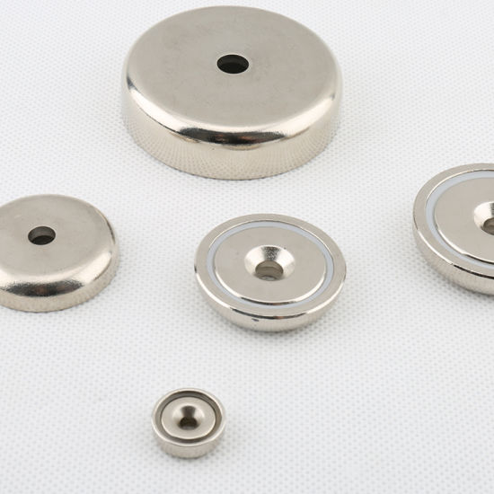 N40 Magnetic Pots with Countersink Hole