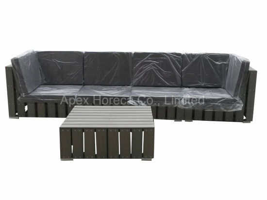 Outdoor Sofa Plastic Wood Lounge Garden Furniture AC1303 pictures & photos