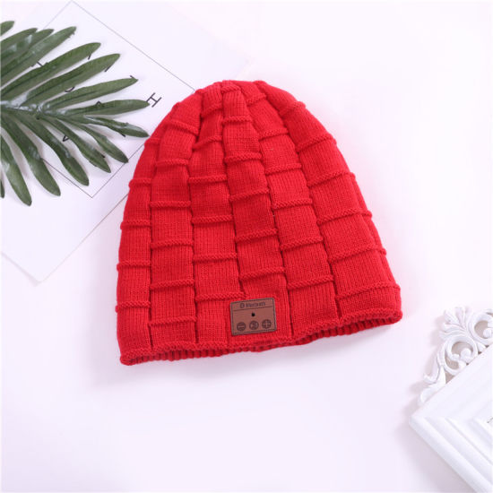 09c3dece88a Hot Sale Gift Wireless Earphone Hat Winter Warm Beanies Music Skullies  Unisex Cool Knitted Cap