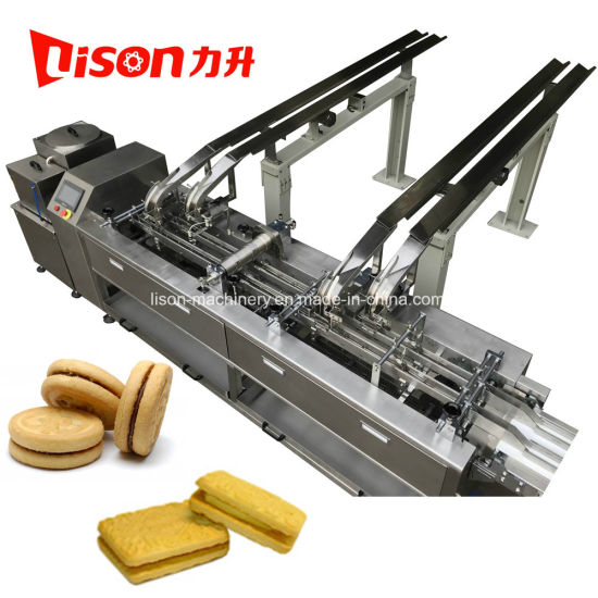 Good Quality Double Lane One Color Biscuit Sandwiching Machine High Speed Factory Price