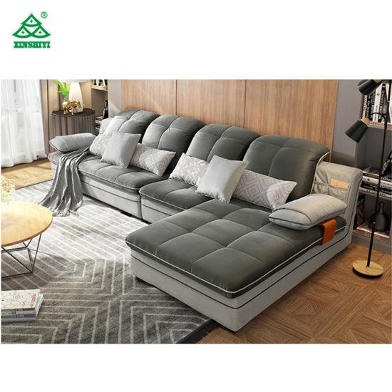 China New Arrival L Shape Design Sofa Home Living Room Sofa China