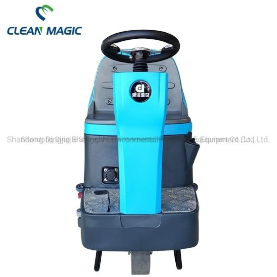 Clean Magic DJ60m Electric Driving Floor Cleaning Machine Scrubber Dryer Industrial