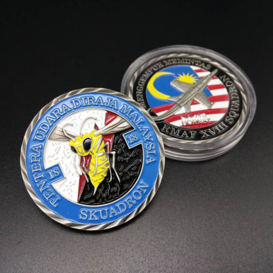 Maker Custom Us Military Army Metal Art Crafts Challenge Coin 3D Soft  Enamel Aircraft Model Sport Award Personalized Products Engraved Name Tag