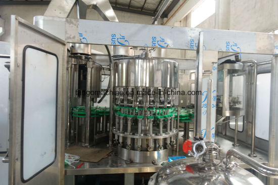 Complete Bottling Line for Spirit Beer White Wine Washing Filling Capping Labeling Bottling Production Line for Square 750ml Glass Bottles pictures & photos