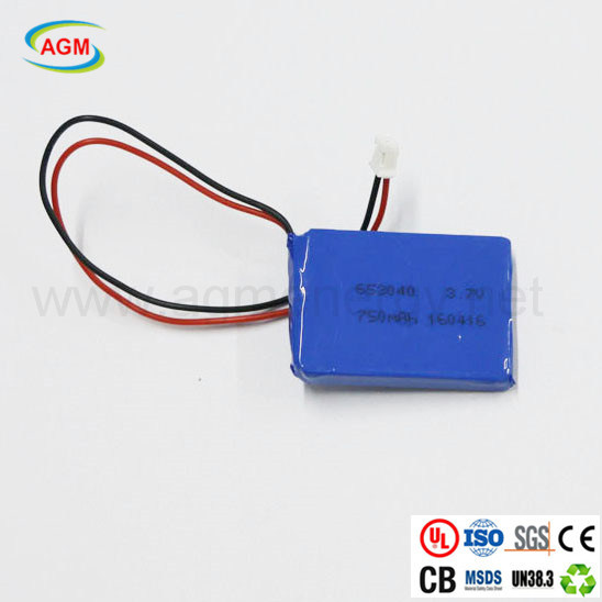 Pl653040 3.7V 750mAh Lithium Battery for Safety Alarm