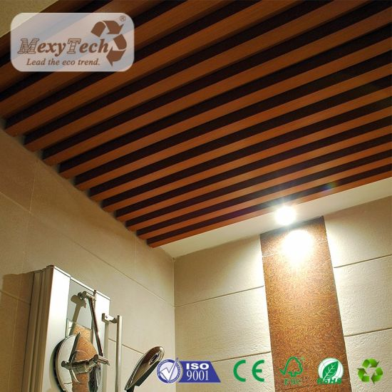 Indoor Wpc Wooden Pvc Ceiling Panel For House Decoration