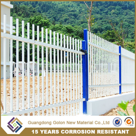 Powder Coating Assembled Galvanized Steel Garden Fencing pictures & photos