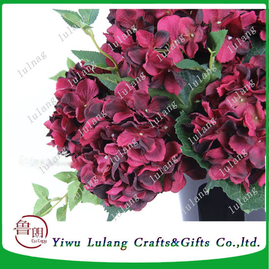 China garden burgundy silk flowers of artificial hydrangeas china garden burgundy silk flowers of artificial hydrangeas mightylinksfo