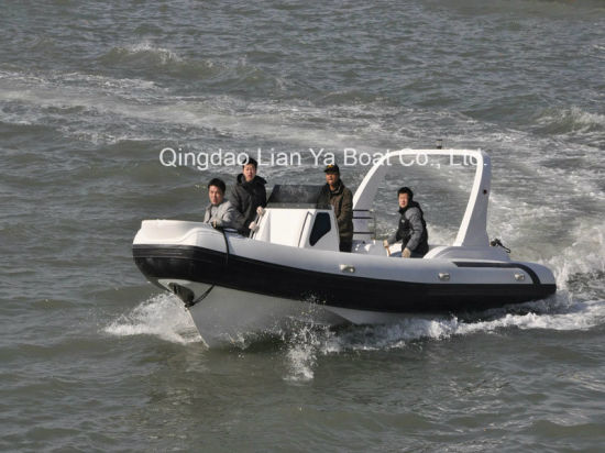7.5m Fiberglass Rigid Inflatable Boat Rib Boat Fishing Boat Speed Yacht