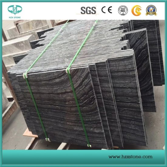 Black Wood/Black Tree/Black Marble/Wood Verin Marble for Slab/Tabletop/Flooring Tile/Sink pictures & photos