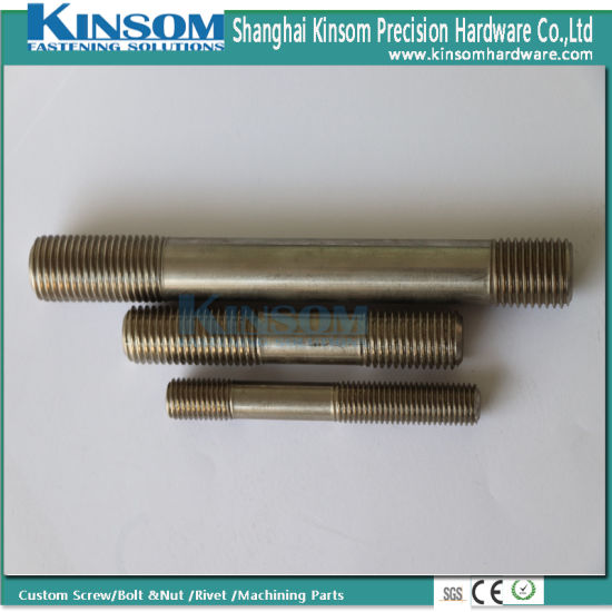 Special High Strength 10.9 Class Metal Rod Parts Ss Double Head Bolt