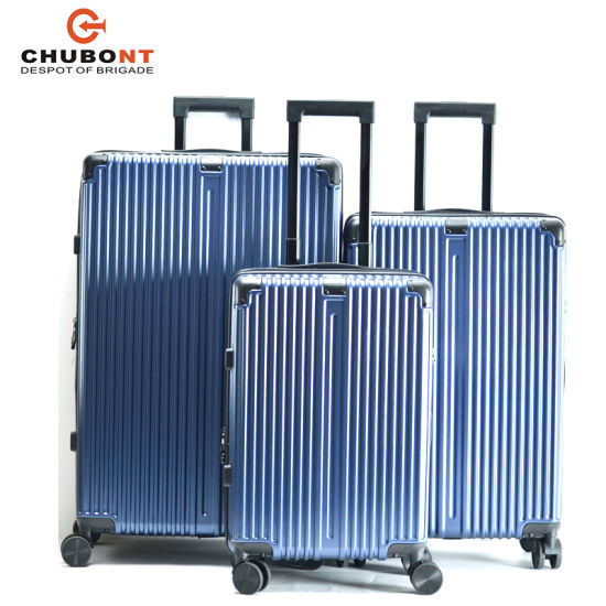 2020 Polycarbonate Hard Shell Anti-Theft Zip Travel Trolley Luggage Bag pictures & photos