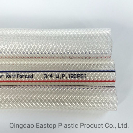 Clear PVC Braided Hose Pipe Reinforced Plastic Tube 6mm 8mm 10mm 12mm Air Water