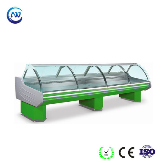 Supermarket Food Display Refrigerator Chiller with Curved Glass  (SG-30KF)