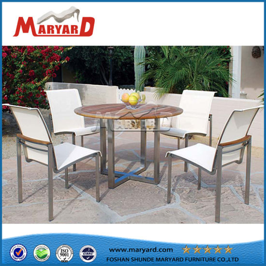 d9d3516ffb4a Solid Wood Round Dining Table Stainless Steel Coffee Table Set pictures &  photos
