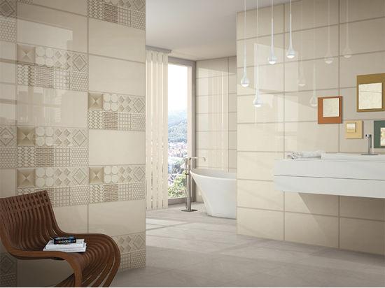 Classic Bathroom Decorative Waterproof Ceramic Interior Wall Tiles in 300*600mm