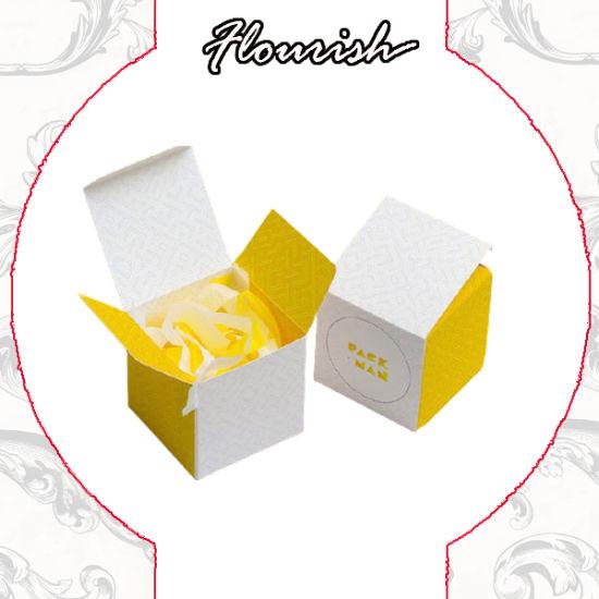 Custom Color and Logo White Card Foldable Tuck End Box