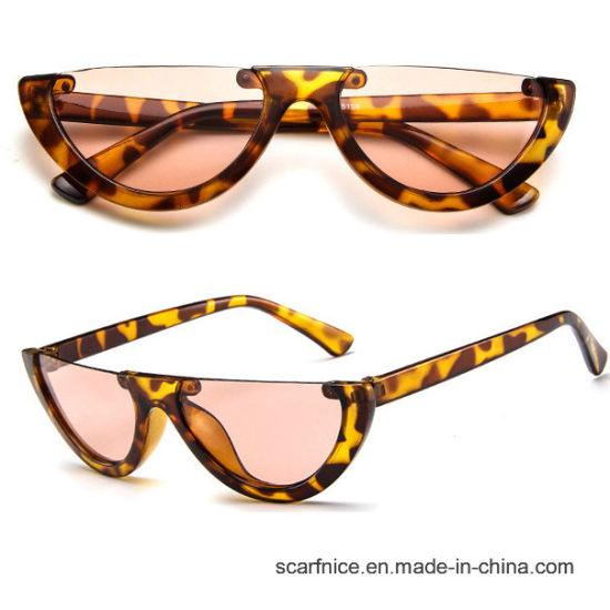 e497de89a82 Cool Trendy Half Frame Rimless Cateye Sunglasses Women 2018 Fashion Clear  Brand Designer Sun Glasses for Female Oculos De Sol