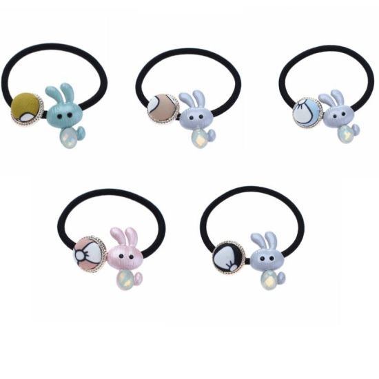 Cute Acrylic Rabbit Elastic Hair Rope Rubber Band Hair Fashion Accessories 8070d9c2aff