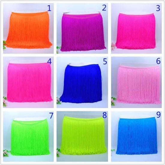 Fashion Bright Colors Nylon Fringe Lace for Dancing Dress
