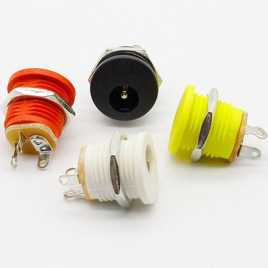 male female socket panel mount barrel jack plug dc 12v power connectors