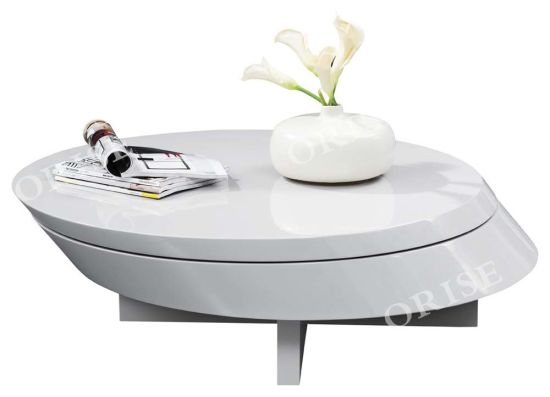 Hot Selling Modern New Design Living Room Unique Shape with Storage Coffee Tea Table