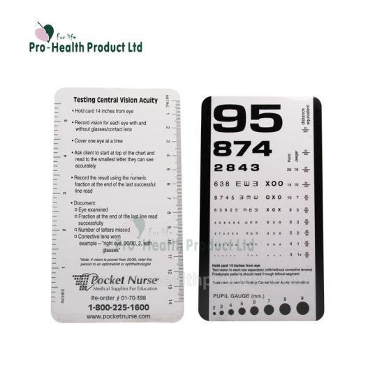 China Surgical Ophthalmic Optics Plastic Medical Eye Chart Mini