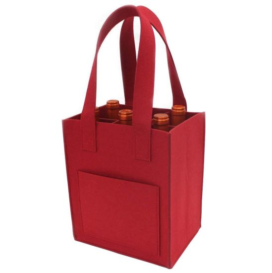 Promotional Wholesale Wine Non Woven Tote Bags with Custom Logo