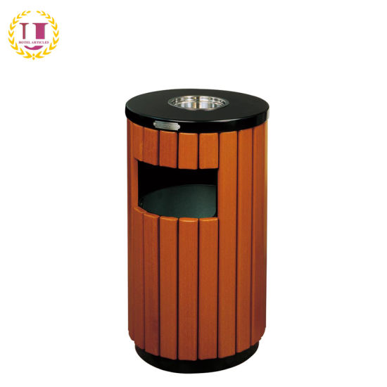 Wooden Outdoor Litter Bins Waste Recycling