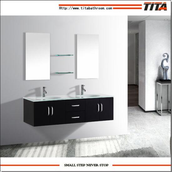 Bath Sink Vanity Mirror Bathroom Cabinet High Glossy T9001f