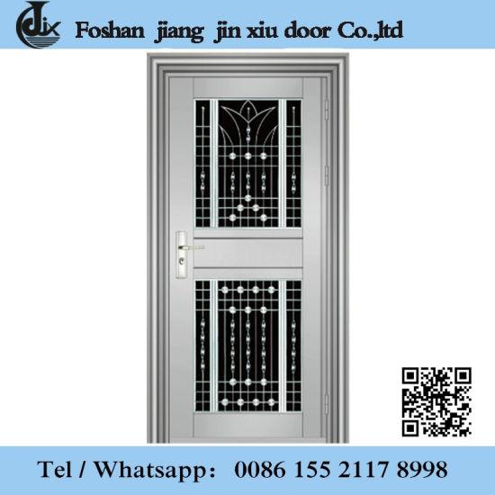 China Morden Design Low Price Stainless Steel Metal Front Door With